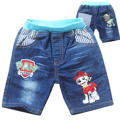 Kids Paw Patrol Jeans Shorts Bottom Pants Costume Clothes Trousers Hot sale