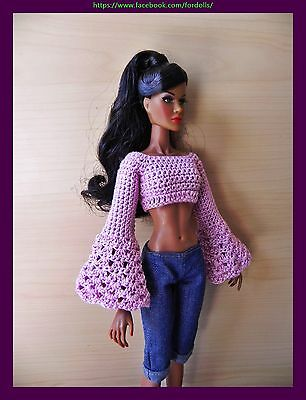 Top handmade for Fashion Royalty / FR2 / Barbie / curvy Barbie /  Poppy Parker