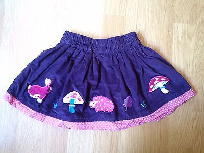 Jojo Maman Bebe 12-18 Months Baby Girls Corduroy Applique Skirt Hedgehog Cord