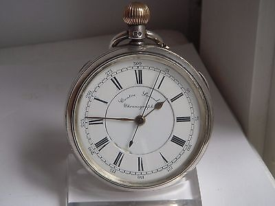 TASCHENUHR SILBER CENTRE SECOND CHRONOGRAPH 1897 Präzisionsuhr Chatons, Anker