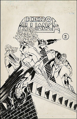 Hero Alliance #2 Cover Art by Bart Sears Victor Golden Guard Vicky Shayne