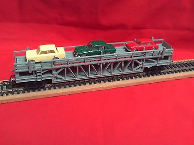 Triang/hornby Car Transporter With Three Minix Cars In V.g.c.