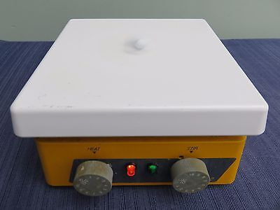 "Thermolyne Cimarec 2 Hot Plate Magnetic Stirrer 7"" x 7"" SP46925 working"