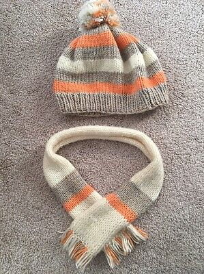 hat and scarf set (hand made) kids size