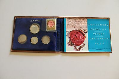 Austria  1965  Proof Set Of (4) Beautiful Silver Coins