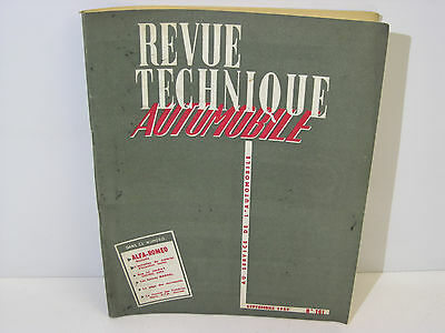Revue technique automobile Alfa Romeo Giulietta RTA 161 septembre 1959