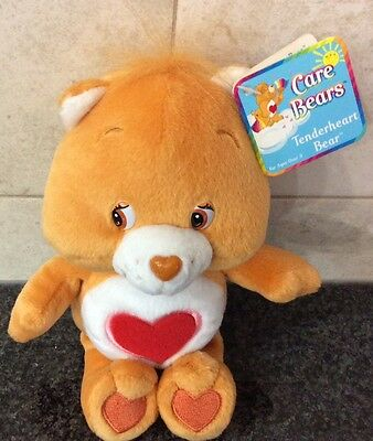 Tenderheart Bear Care Bear 2003 8 Inch Brown Red Heart Kids Plush