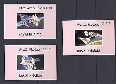 Ras al Khaima 1972  USA Spacelab 6 de Luxe numbered  sheets  R 109   MNH