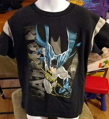 Boy's DC Comics Blue Batman Short Sleeve T-Shirt Size L (7)