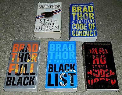 Brad Thor Lot of 5 Scot Harvath Series Paperback Very Good Condition