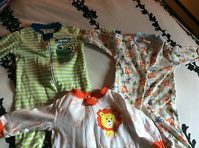 baby 0-3 months Lot Of 3 PJ - Very Good Condition