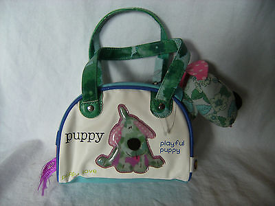 Bang on the Door playful puppy soft toy in a cute matching bag