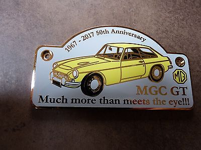 Mg Mgc Gt  Primrose Yellow 50Th Anniversary  Chrome Grille Badge 1967-2017