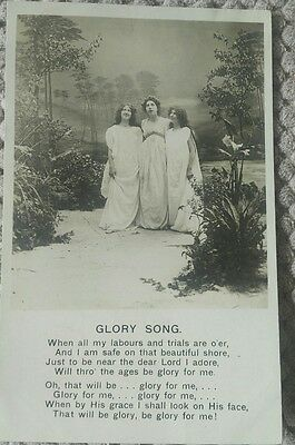 Vintage Religious Postcard. Glory Song No 1