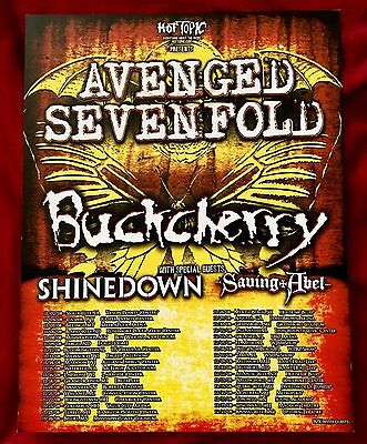 Avenged Sevenfold 2008 Tour Poster