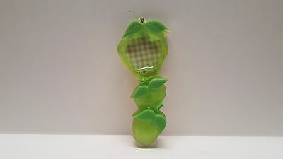 Vintage 60's acrylic lucite green apple spoon rest caddy