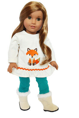 My Brittany's Greenwoof Fox Outfit Fits  American Girl Dolls-18 In Doll Clothes