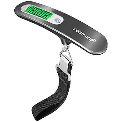Digital Luggage Scale, Fosmon Stainless Steel Digital Hanging Luggage Weight Up
