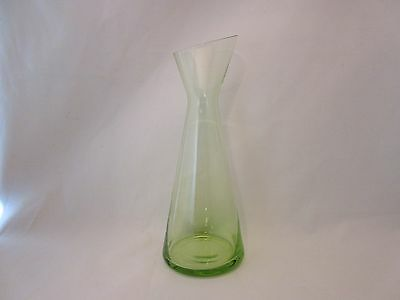 "Morgantown #9902 Adams Slant Vase Candleholder Lime Green 7"" Excellent"