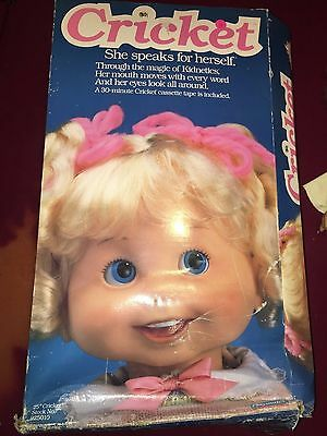 Vintage 1986 25in CRICKET Doll w/ Box Includes 2 Tapes+Shoes