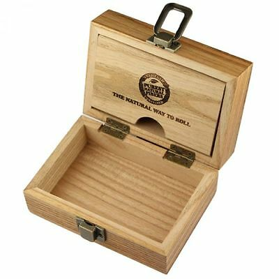 raw Wooden Rolling Box , for  Tips, Rizla papers(free lighter with box)