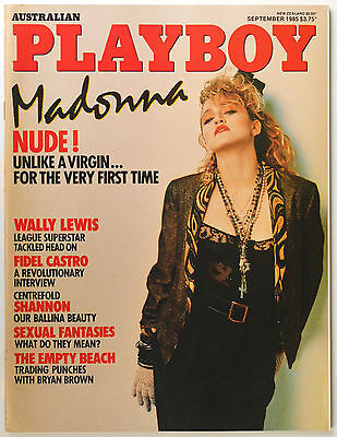 Australian Playboy Magazine September 1985 - Madonna Cover and Nude Pictorial