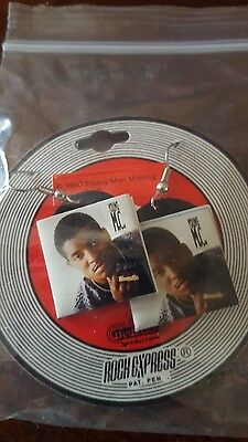 Vintage 1990 YOUNG M.C. Rock Express/Play It By Ear Album Cover Earrings NIP