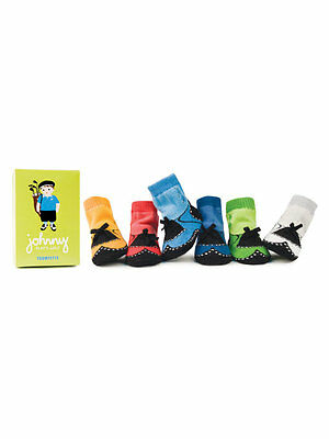 Trumpette Johnny Golf NonSkid Baby Socks Box Set of 6 Pairs 0-12 Months Adorable