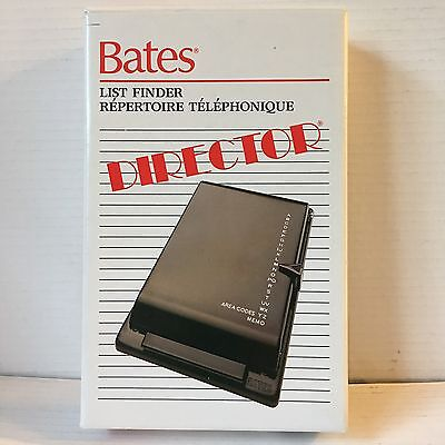 Bates Director List Finder Desktop Address Book Memo Mid Mod Black Metal NIB