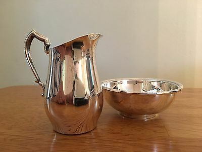 Sterling Creamer and Open Sugar Bowl, Pitcher & Bowl, International Sterling