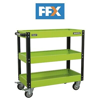 Sealey CX110HV Workshop Trolley 3-Level Heavy-Duty - Hi-Vis Green