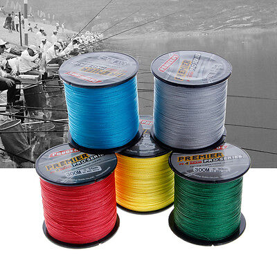 Pro 300M Super Strong 6lbs-100lbs 4 Stands PE Braided Fishing Line Cord Rope New