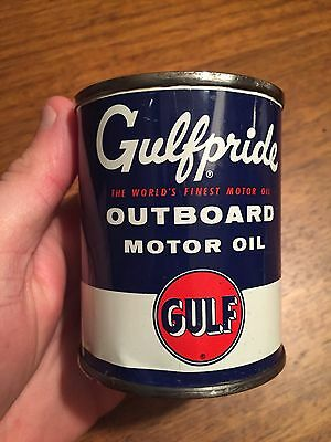 Gulfpride Outboard Motor Oil Can 1/2 pint Nice