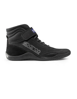 SPARCO Size 9-1/2 Black High-Top Race Driving Shoes P/N 00127095N