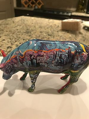 Cow Parade Item 7329 Van Gogh's Vegas and Red Rock