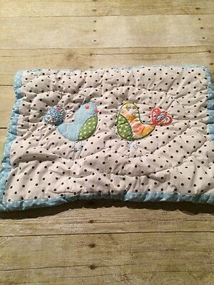 Pottery Barn Kids Brooke Owl Quilted Throw Pillow Sham Cover