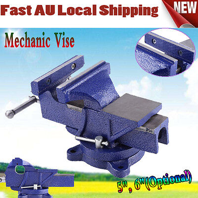 Table Bench Vice Grip Clamp 5 / 6 inch Metalworking Steel Mechanic Vise Workshop
