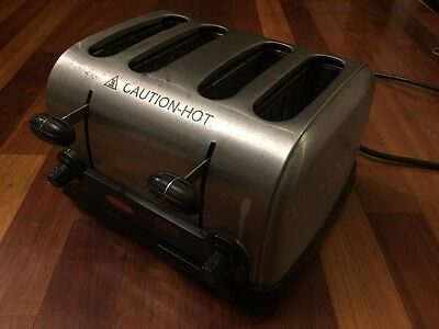 "Hatco Commercial Pop-Up Toaster W/ Four Slice 1.5"" Slots 120V - Tpt-120"