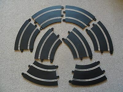 GOOD CONDITION - 8 x Radius 2 Curve Bend - Scalextric Sport Track