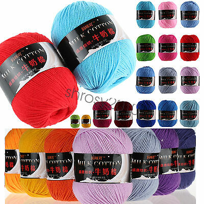 Wholesale!Popular colors Milk Crochet Cotton Knitting Yarn Baby Knit Wool Yarn