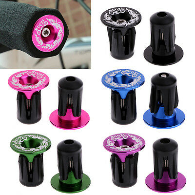 1Pair Aluminum Handlebar Alloy Grips Bar End Plugs Cap For MTB Road Cycling Bike