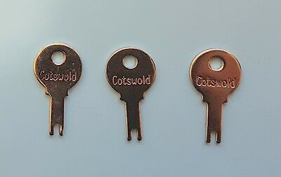 3 x Cotswold Cockspur Window Handle Key