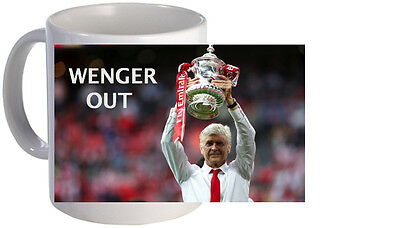 Arsene Wenger Out Quote Funny Mug. Brand New.