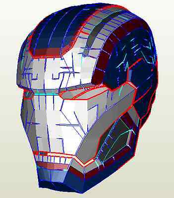 Diy Iron Patriot Hemet Kit Pepakura Cosplay Foam Free Postage