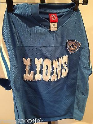Detroit Lions NFL Blue Jersey sz 12/14 Great Condition Wear With Pride EST 1930