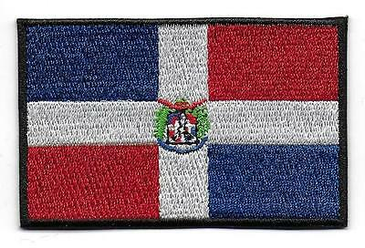 Embroidered DOMINICAN REPUBLIC Flag High Quality Iron on Sew on Patch Badge