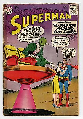 Superman #136 - DC - SILVER AGE - 1960 - GD-
