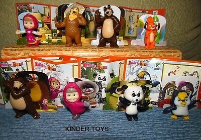 Kinder surprise egg set - NEW! Masha and the bear 8 figures toys + accessories!