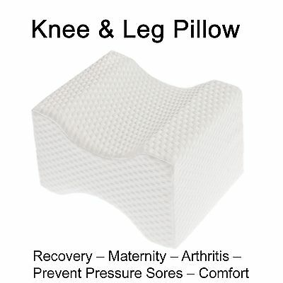 Knee Leg Pillow Cushion memory foam - relief support pain back ease sleeping bed