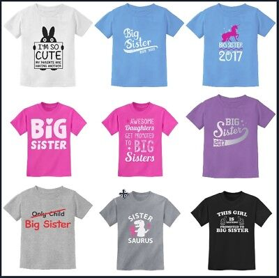 Big Sisters Gift Idea Kids Girls T-Shirt Toddler Infant Funny Novelty 24m 2T 4T